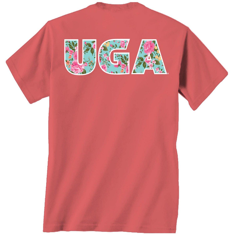 New World Graphics Women's University of Georgia Floral T-shirt free shipping