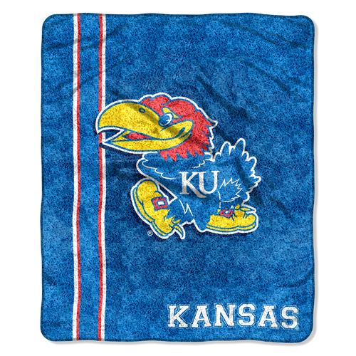 The Northwest Company University of Kansas Jersey Sherpa Throw