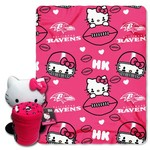 The Northwest Company Baltimore Ravens Hello Kitty Hugger and Fleece Throw Set