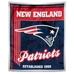 The Northwest Company New England Patriots Old School Mink with Sherpa Throw