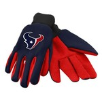 Team Beans Adults' Houston Texans 2-Color Utility Gloves