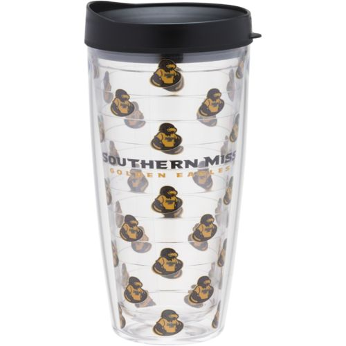 Signature Tumblers University of Southern Mississippi 22 oz. Repeated Pattern Traveler Insulated Tum