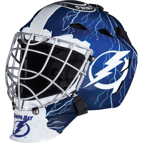 Franklin Boys' Tampa Bay Lightning GFM 1500 Goalie Face Mask