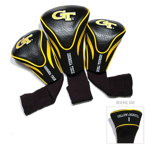 Team Golf Georgia Tech Contour Sock Head Covers 3-Pack