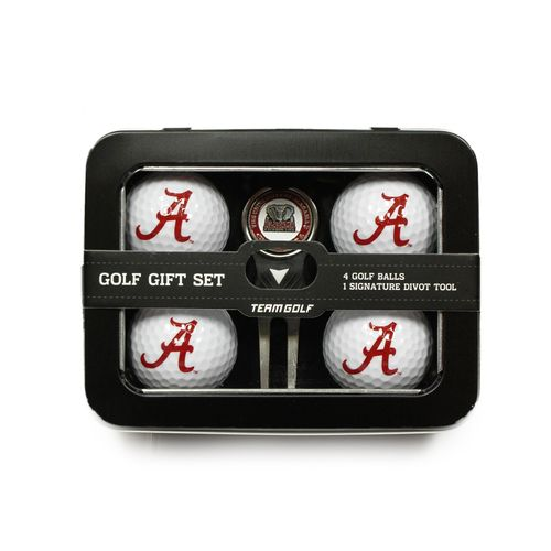 Team Golf University of Alabama 4-Ball Tin Gift