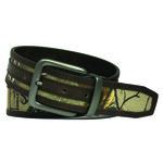 Realtree Men's Stitched Camo Bonded Reversible Belt