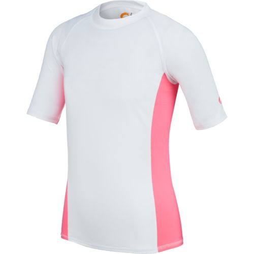 O'Rageous® Girls' Solid Raglan Short Sleeve Rash Guard