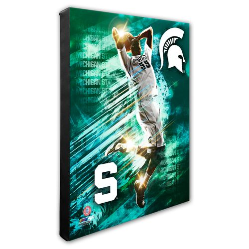 Photo File Michigan State University Player Stretched Canvas Photo - view number 1