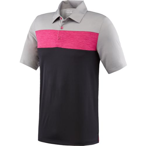 BCG Men's Golf Tru-Wick Blocked Short Sleeve Polo Shirt