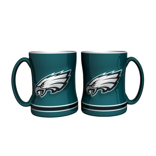 Boelter Brands Philadelphia Eagles 14 oz. Relief Mugs 2-Pack
