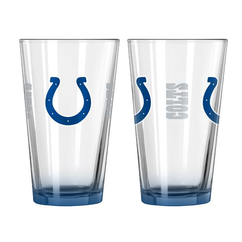 Boelter Brands Indianapolis Colts Elite 16 oz. Pint Glasses 2-Pack