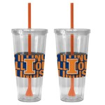 Boelter Brands University of Illinois Bold Neo Sleeve 22 oz. Straw Tumblers 2-Pack - view number 1