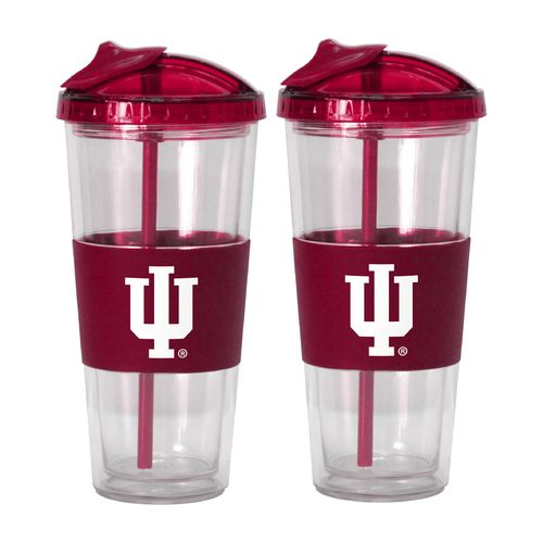 Boelter Brands Indiana University 22 oz. No-Spill Straw Tumblers 2-Pack