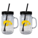 Boelter Brands University of Iowa 20 oz. Handled Straw Tumblers 2-Pack