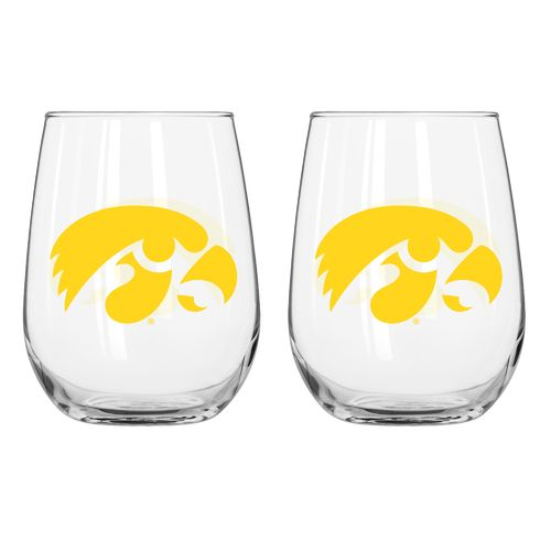 Boelter Brands University of Iowa 16 oz. Curved Beverage Glasses 2-Pack
