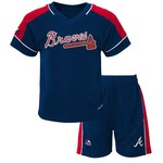 Majestic Toddlers' Atlanta Braves Baseball Classic Shirt and Short Set