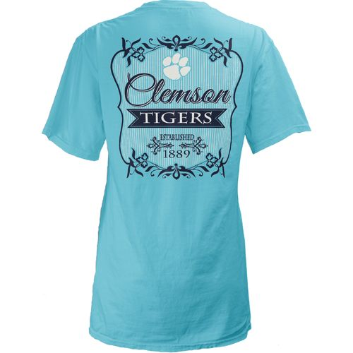 Three Squared Juniors' Clemson University Flora T-shirt