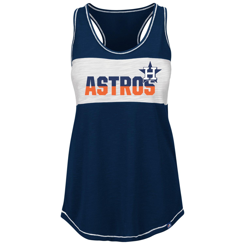 Majestic Women's Houston Astros Game Time Glitz Tank