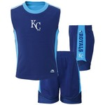 Majestic Toddlers' Kansas City Royals Slide Home Shirt and Short Set