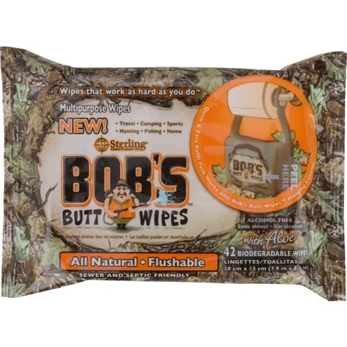 Display product reviews for Sterling Bob's Butt Wipes Refill 42-Pack