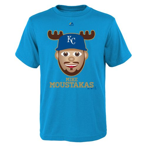 Majestic Boys' Kansas City Royals Mike Moustakas Gold Edition Emoji T-shirt