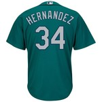Majestic Men's Seattle Mariners Félix Hernandez #34 Cool Base Replica Jersey - view number 1