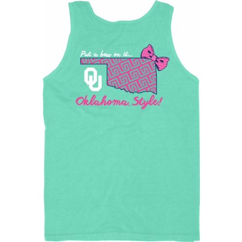 Blue 84 Women's University of Oklahoma Tied Together Tank Top