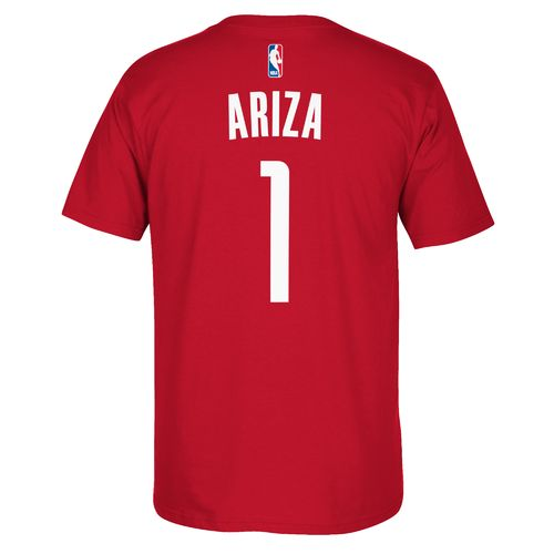 adidas™ Men's Houston Rockets Trevor Ariza #1 Short Sleeve T-shirt