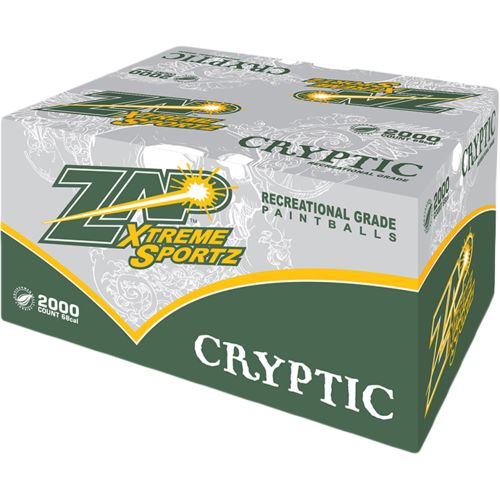 Zap Cryptic .68 Caliber Recreational Grade Paintballs 2,000-Pack