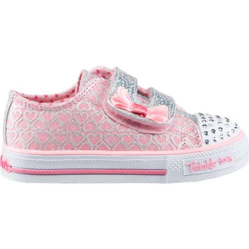 SKECHERS Toddler Girls' Twinkle Toes Shuffles Shoes