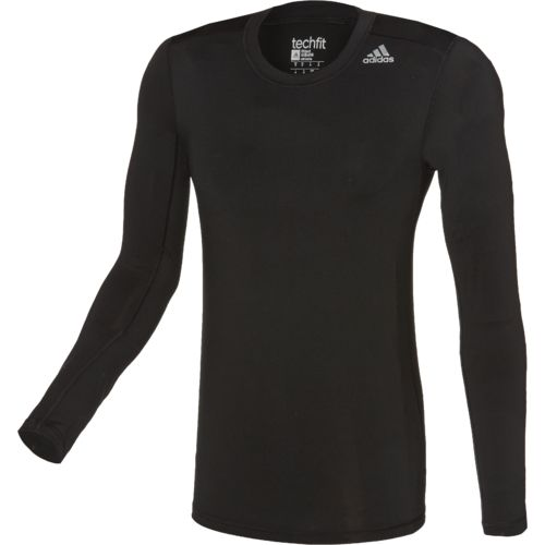 adidas™ Men's Techfit Fitted Long Sleeve T-shirt