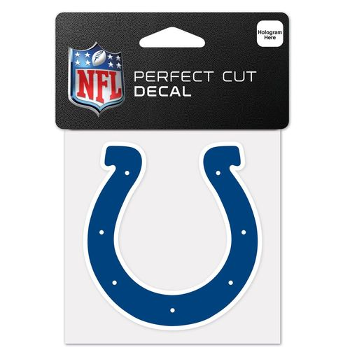 "WinCraft Indianapolis Colts 4"" x 4"" Perfect Cut Color Decal"