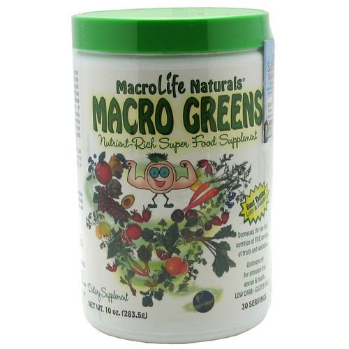 Display product reviews for MacroLife Naturals Macro Greens Super Food Supplement