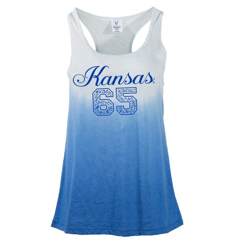 NCAA Women's University of Kansas Jess Dip Dye Racerback Tank Top