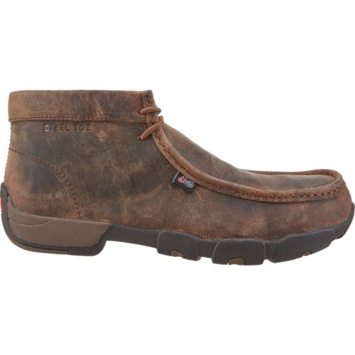 Display product reviews for Justin Men's Casuals Driver Moc Steel-Toe Work Boots