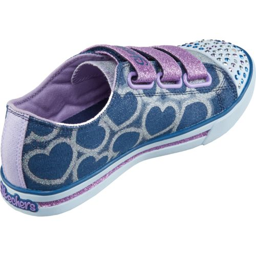 SKECHERS Girls' Twinkle Toes Shuffles Glitter Heart Shoes - view number 3
