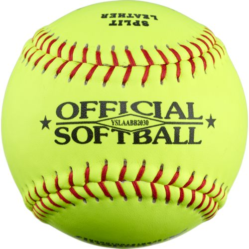 "Academy Sports + Outdoors™ Youth 12"" Leather Softballs 6-Pack"