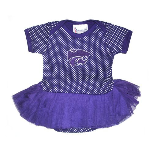 Two Feet Ahead Infants' Kansas State University Pin Dot Tutu Creeper