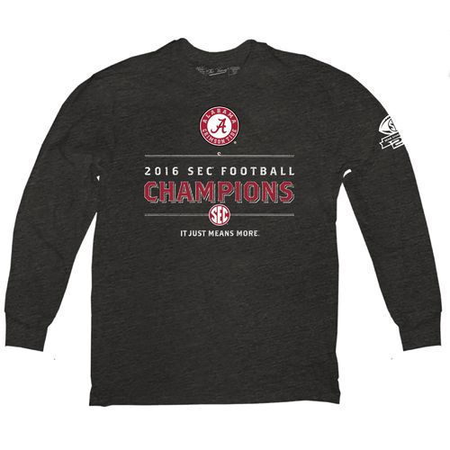 Wildcat Retro Men's University of Alabama 2016 SEC Champions Long Sleeve T-shirt
