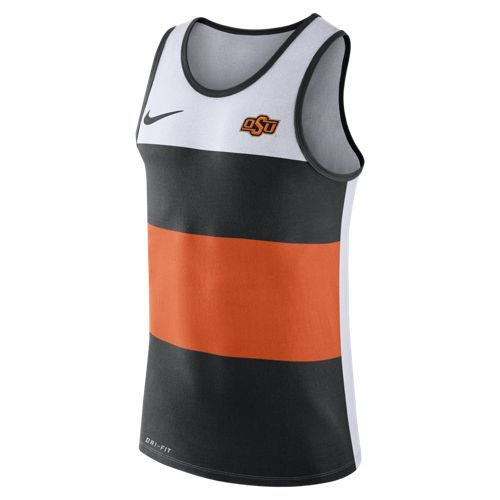 Nike Men's Oklahoma State University Stripe Tank Top