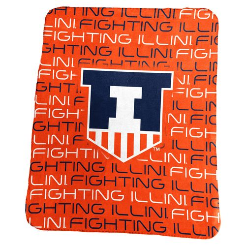 Logo University of Illinois 50 in x 60 in Classic Fleece Blanket
