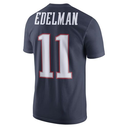 Nike Men's New England Patriots Julian Edelman 11 SB51 Bound '16 Name and Number T-shirt