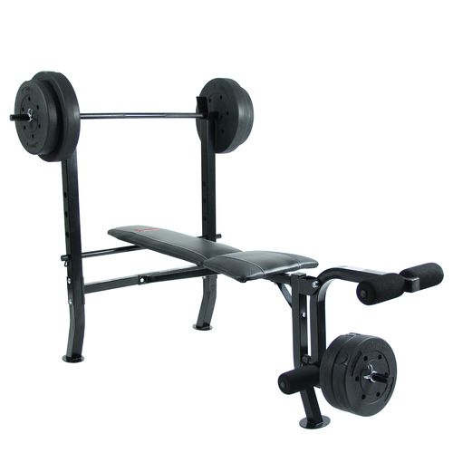 Sunny Health & Fitness 100 lbs Weight/Bench Set