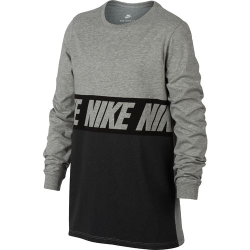 Nike Boys' AV15 Block Long Sleeve T-shirt