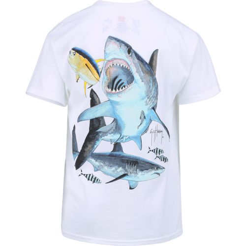 Guy Harvey Boys' Great White Short Sleeve T-shirt