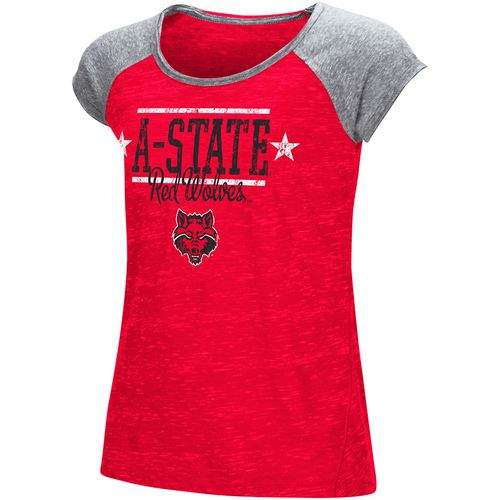 Colosseum Athletics Girls' Arkansas State University Sprints T-shirt