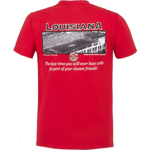 New World Graphics Men's University of Louisiana at Lafayette Friends Stadium T-shirt