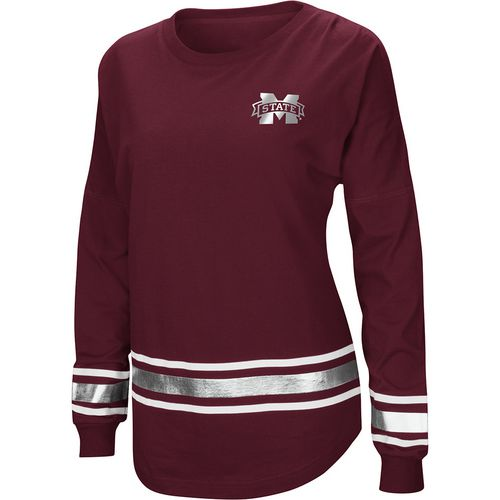Colosseum Athletics Women's Mississippi State University Humperdinck Oversize Long Sleeve T-shirt