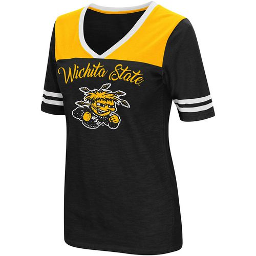 Colosseum Athletics Women's Wichita State University Twist 2.1 V-Neck T-shirt