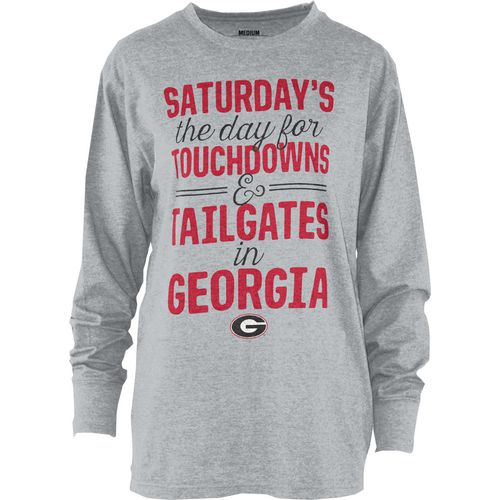 Three Squared Juniors' University of Georgia Touchdowns and Tailgates T-shirt